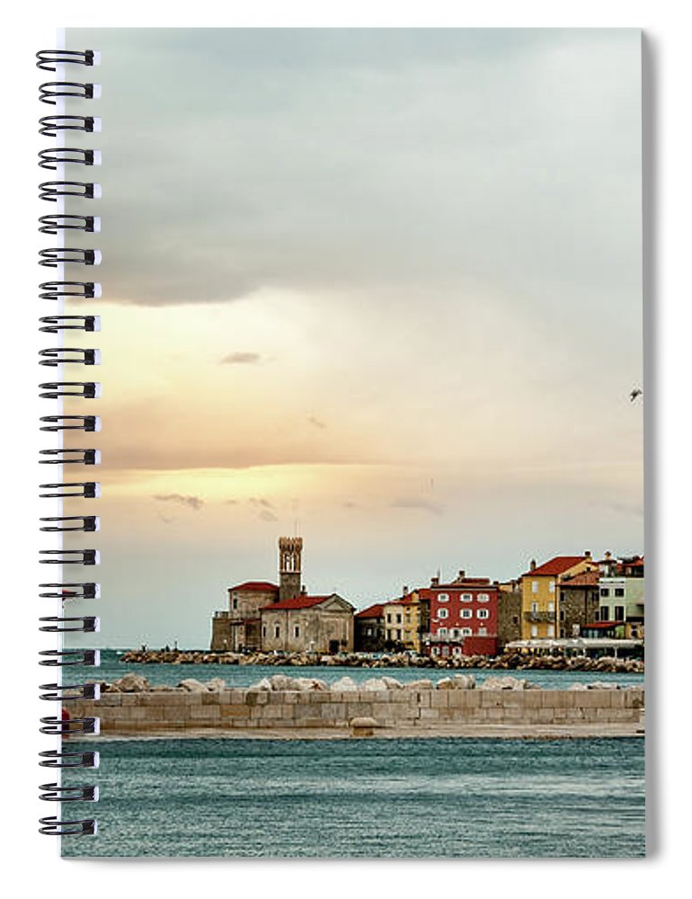 Tranquility Spiral Notebook featuring the photograph Piran Slovenia by Digital Image