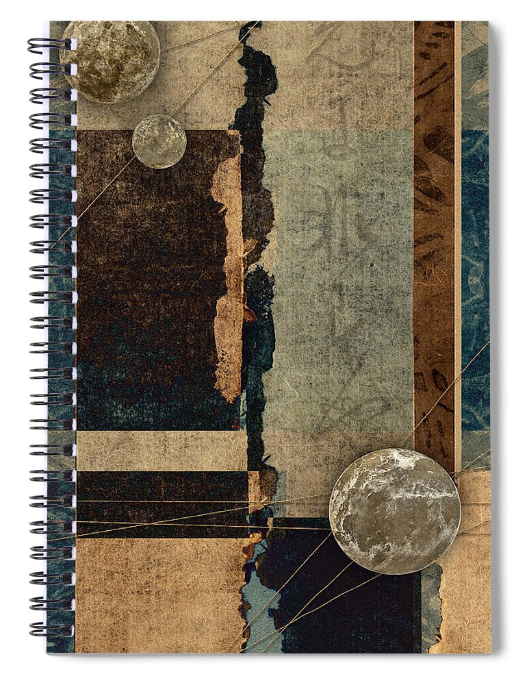 Planet Spiral Notebook featuring the photograph Planetary Shift #1 by Carol Leigh