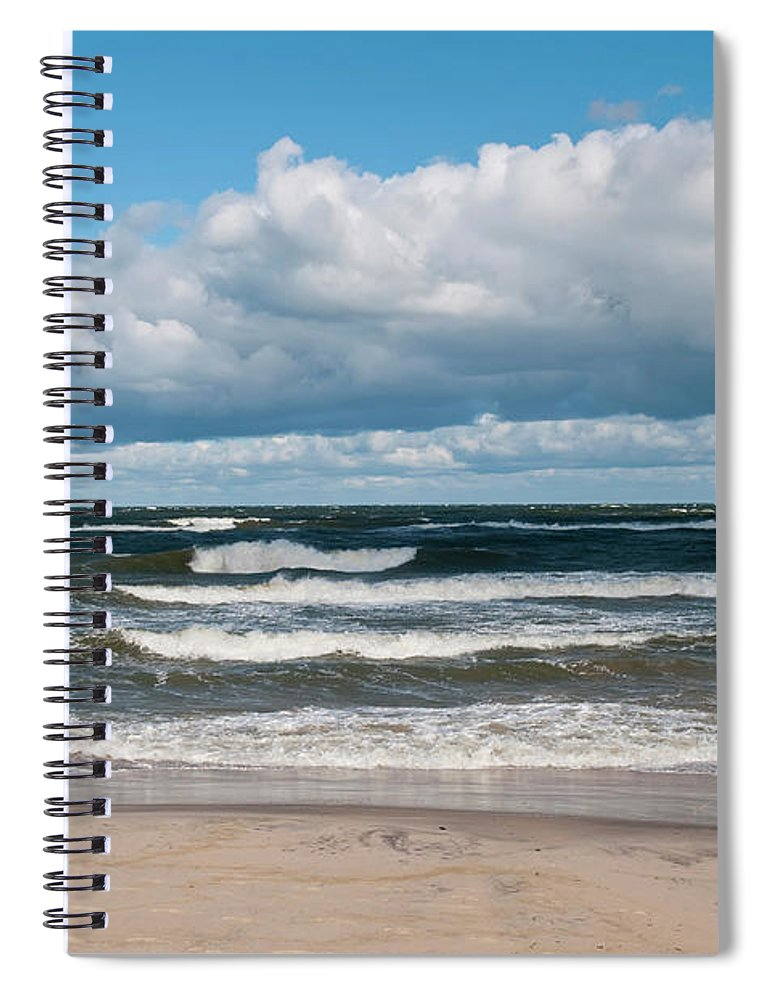 Water's Edge Spiral Notebook featuring the photograph Poland, View Of Baltic Sea In Autumn At by Westend61