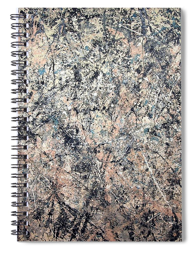 Number 1 Spiral Notebook featuring the photograph Pollock's Number 1 -- 1950 -- Lavender Mist by Cora Wandel