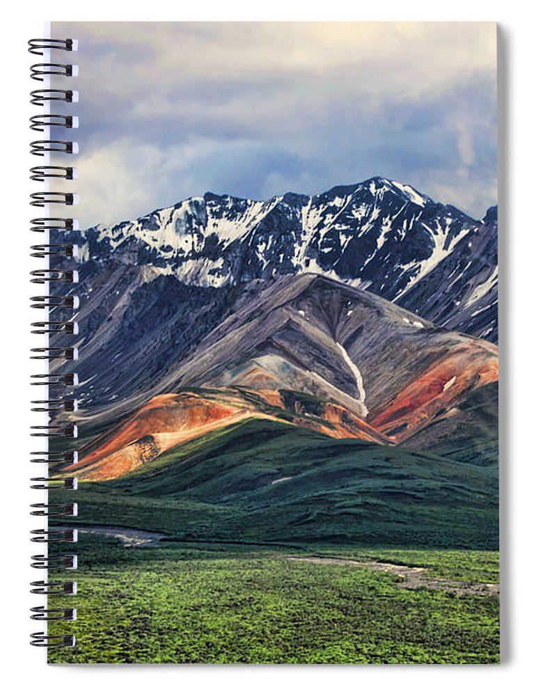 Polychrome Spiral Notebook featuring the photograph Polychrome by Heather Applegate