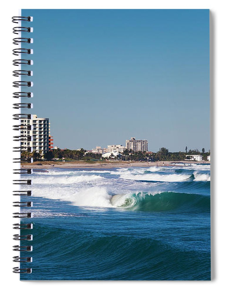 Tranquility Spiral Notebook featuring the photograph Pompano Beach, Florida, Exterior View by Walter Bibikow
