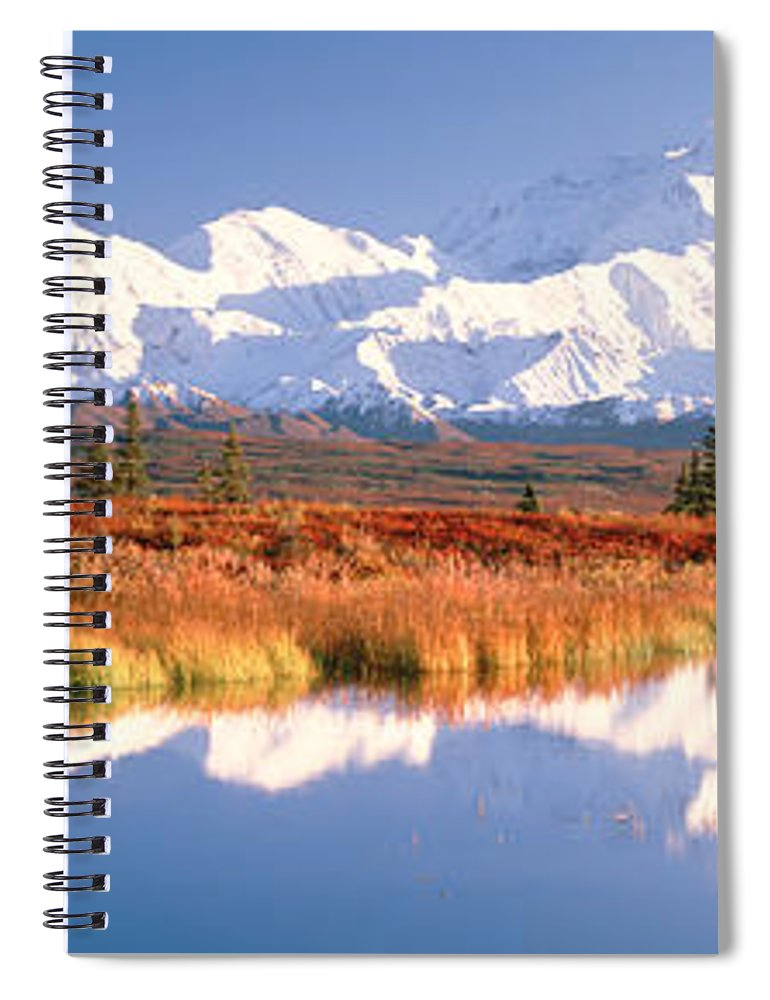 Photography Spiral Notebook featuring the photograph Pond, Alaska Range, Denali National by Panoramic Images