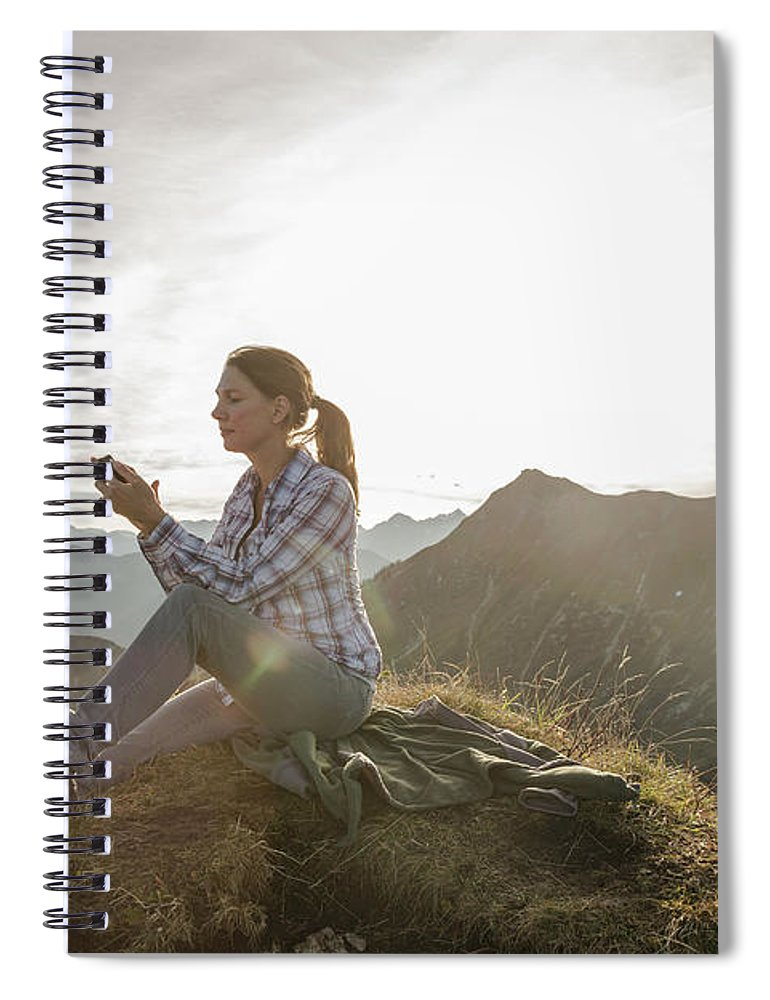 Mid Adult Women Spiral Notebook featuring the photograph Portrait Of A Mid Adult Woman by Alan Graf