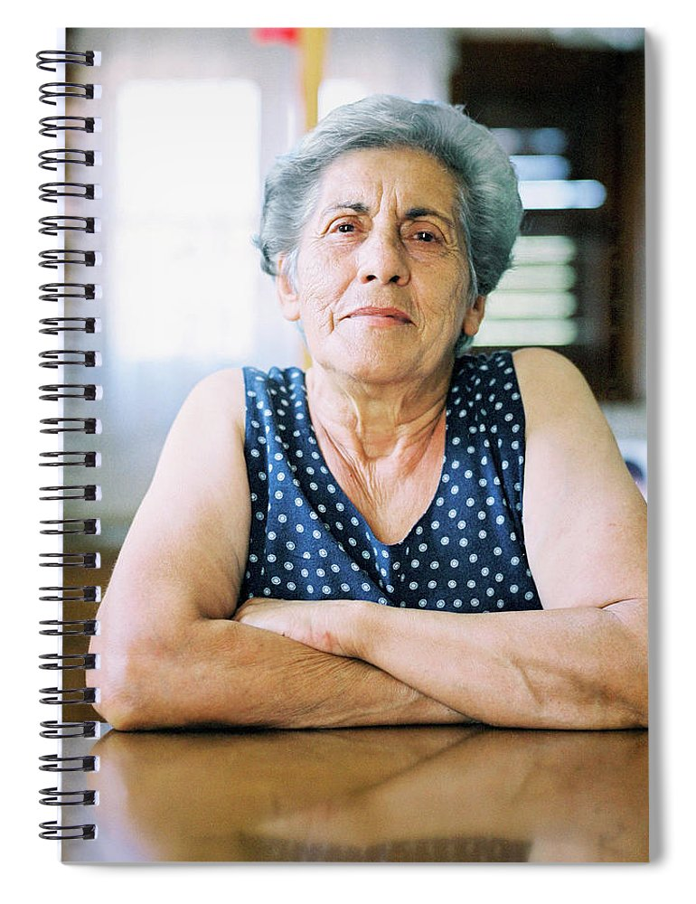 People Spiral Notebook featuring the photograph Portrait Of A Senior Woman by Thanasis Zovoilis