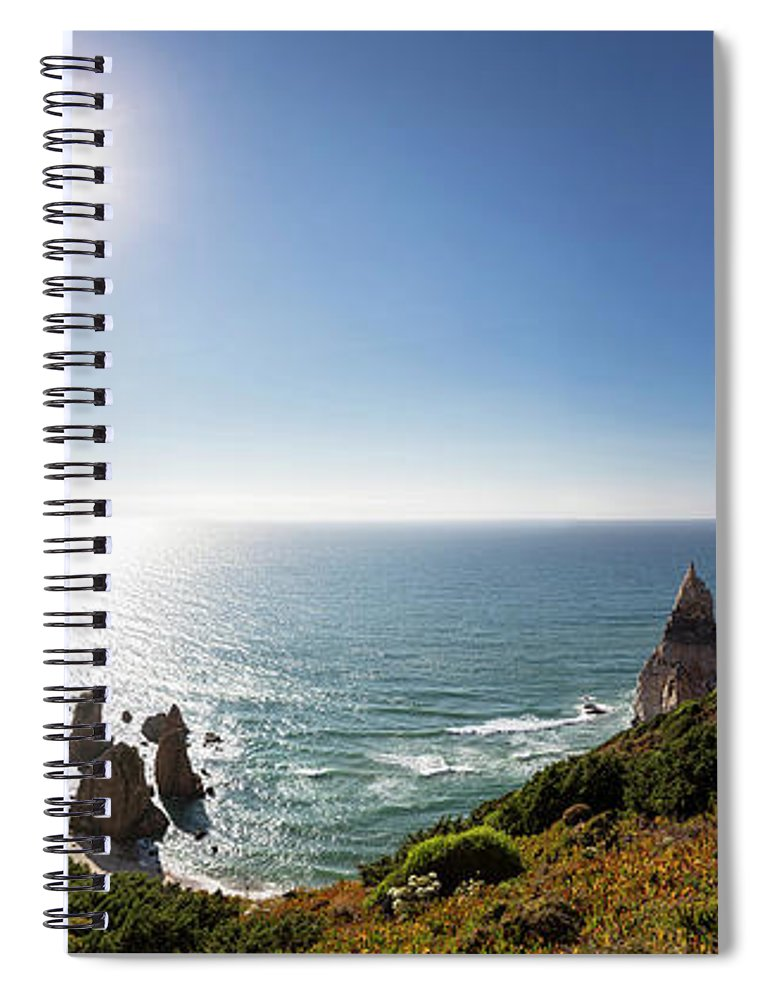 Tranquility Spiral Notebook featuring the photograph Portugal, View Of Praia Da Ursa by Westend61