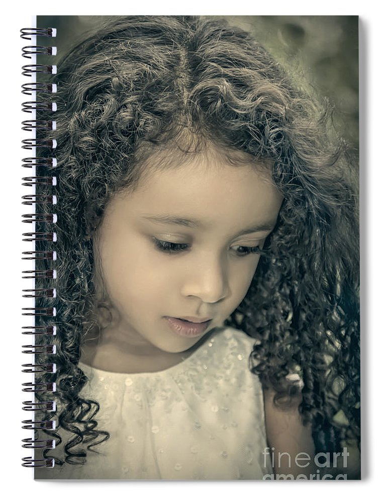 Girl Spiral Notebook featuring the photograph Precious Time by Evelina Kremsdorf
