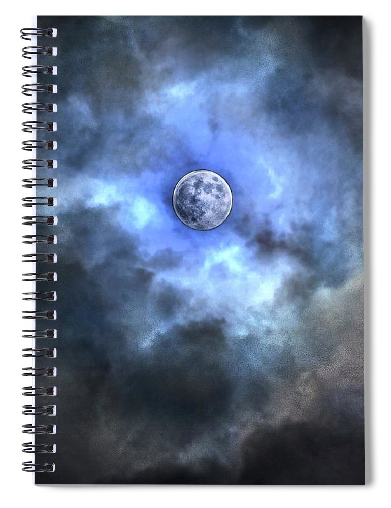 Tranquility Spiral Notebook featuring the photograph Purnama by Jemang Images