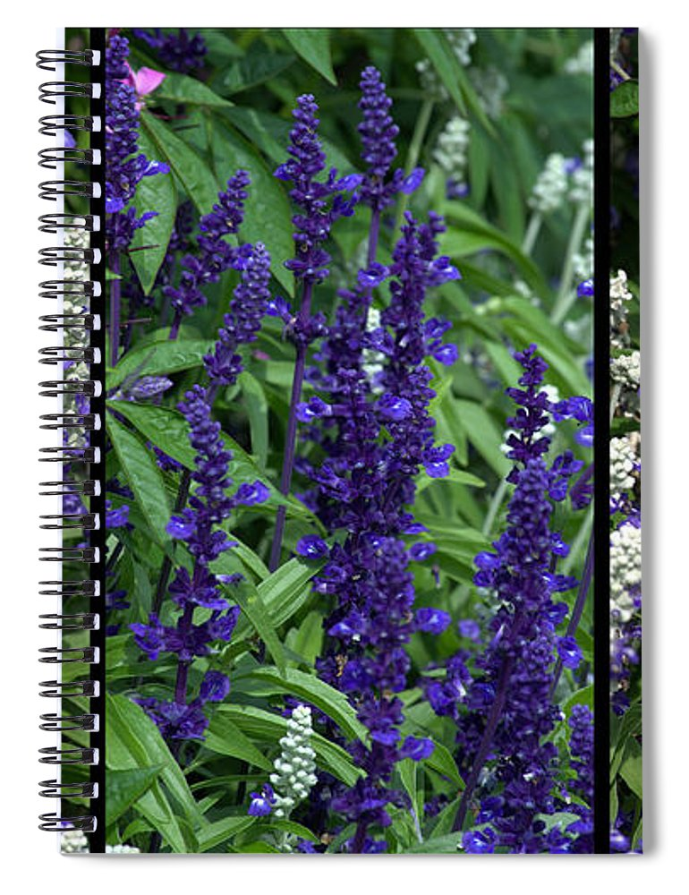 Purple Spiral Notebook featuring the photograph Purple Flowers by Tikvah's Hope