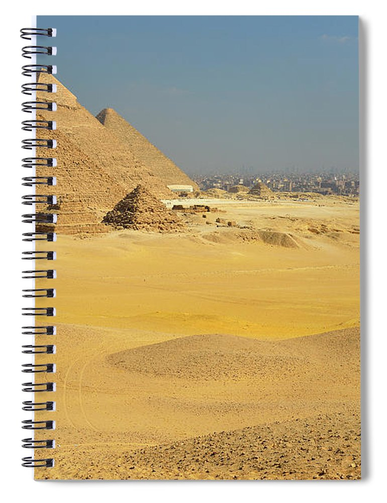 Built Structure Spiral Notebook featuring the photograph Pyramids Of Giza by Raimund Linke