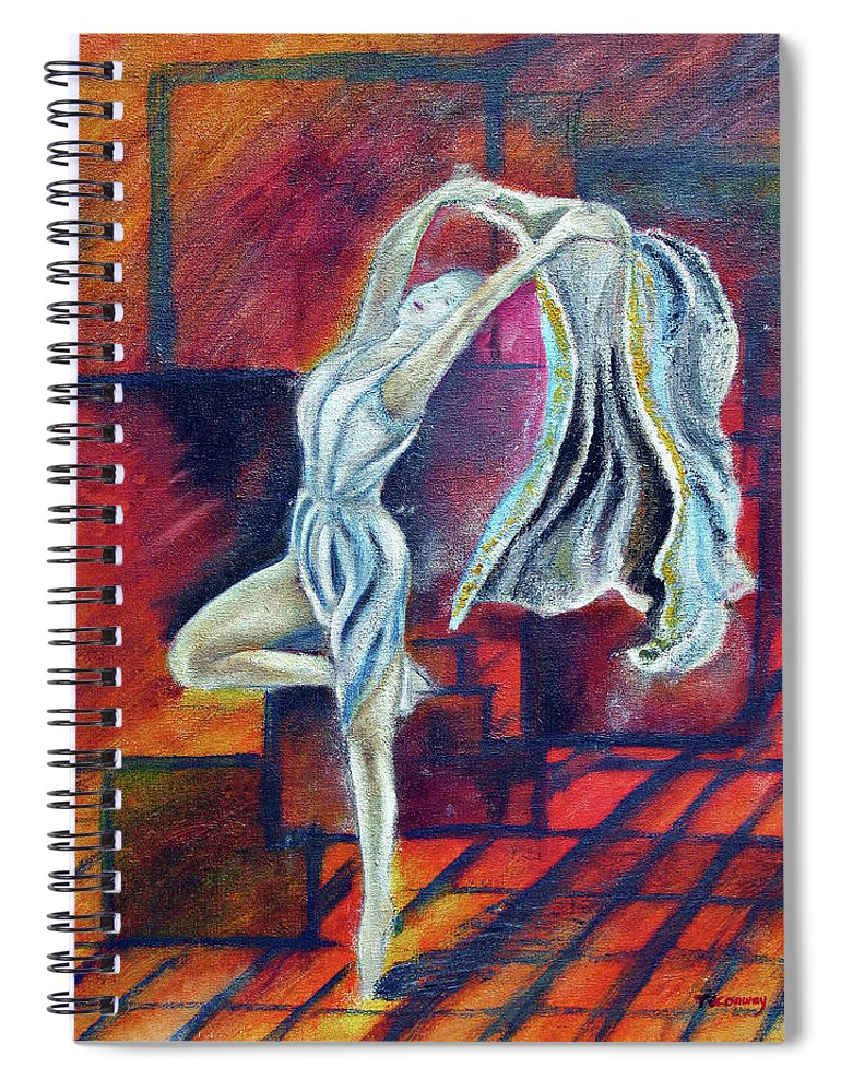 Dance Spiral Notebook featuring the painting Radancer by Tom Conway