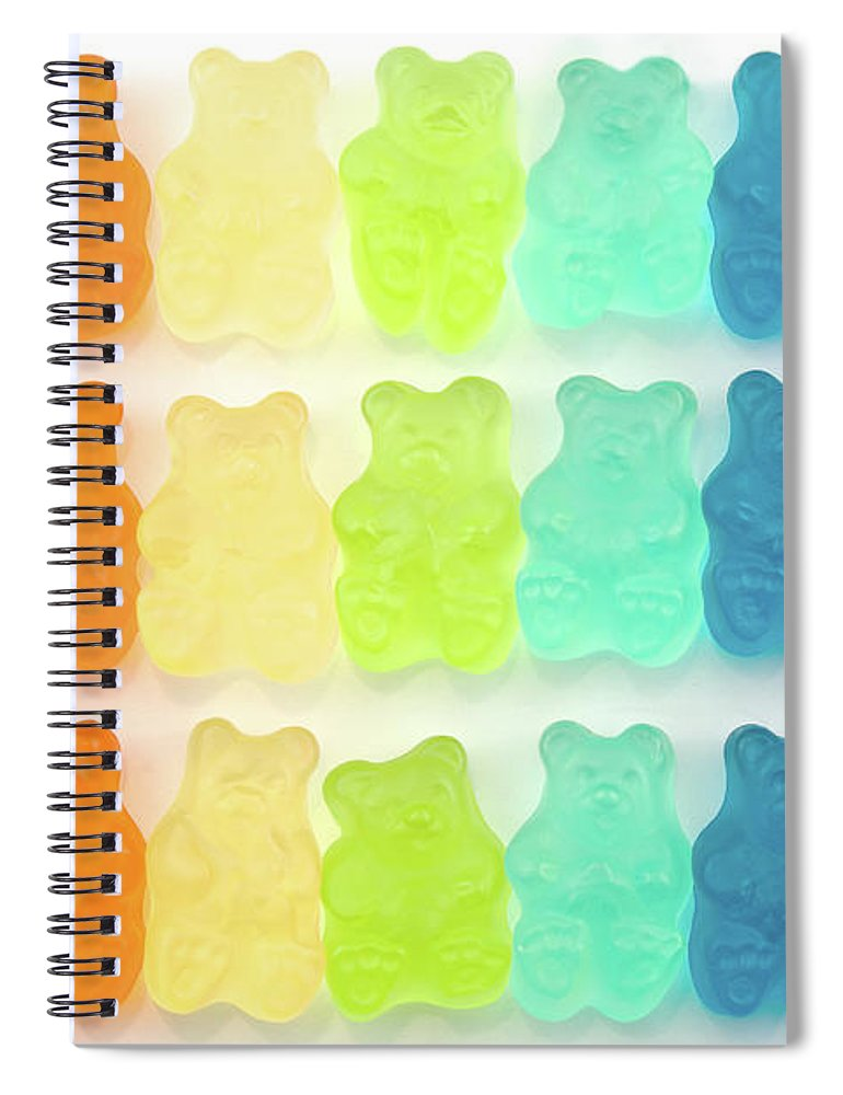 Order Spiral Notebook featuring the photograph Rainbow Jelly Bear Candy by Melissa Ross