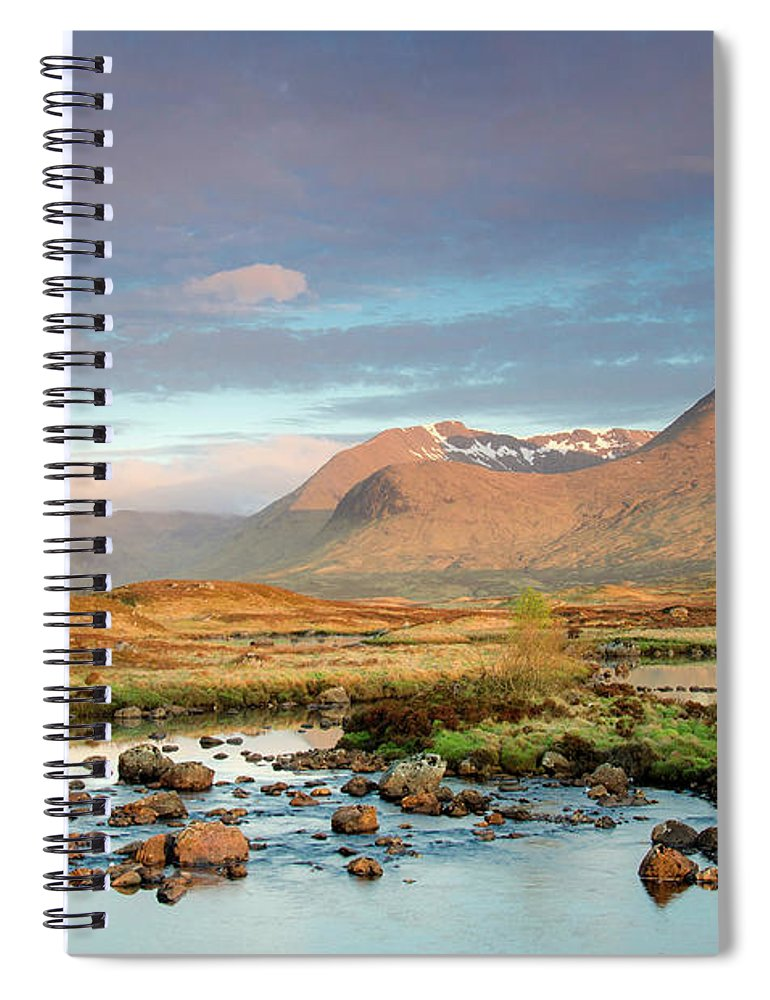 Scenics Spiral Notebook featuring the photograph Rannoch Moor by Mike Dow Photography