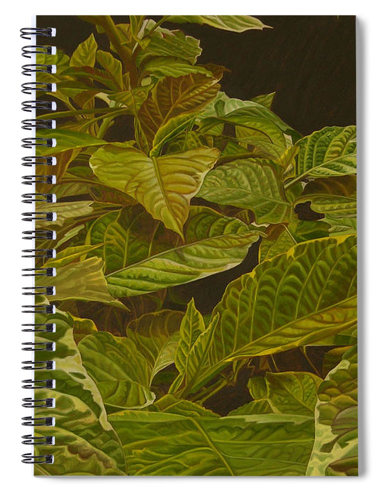 Plant Spiral Notebook featuring the painting Ready For Spring by Thu Nguyen