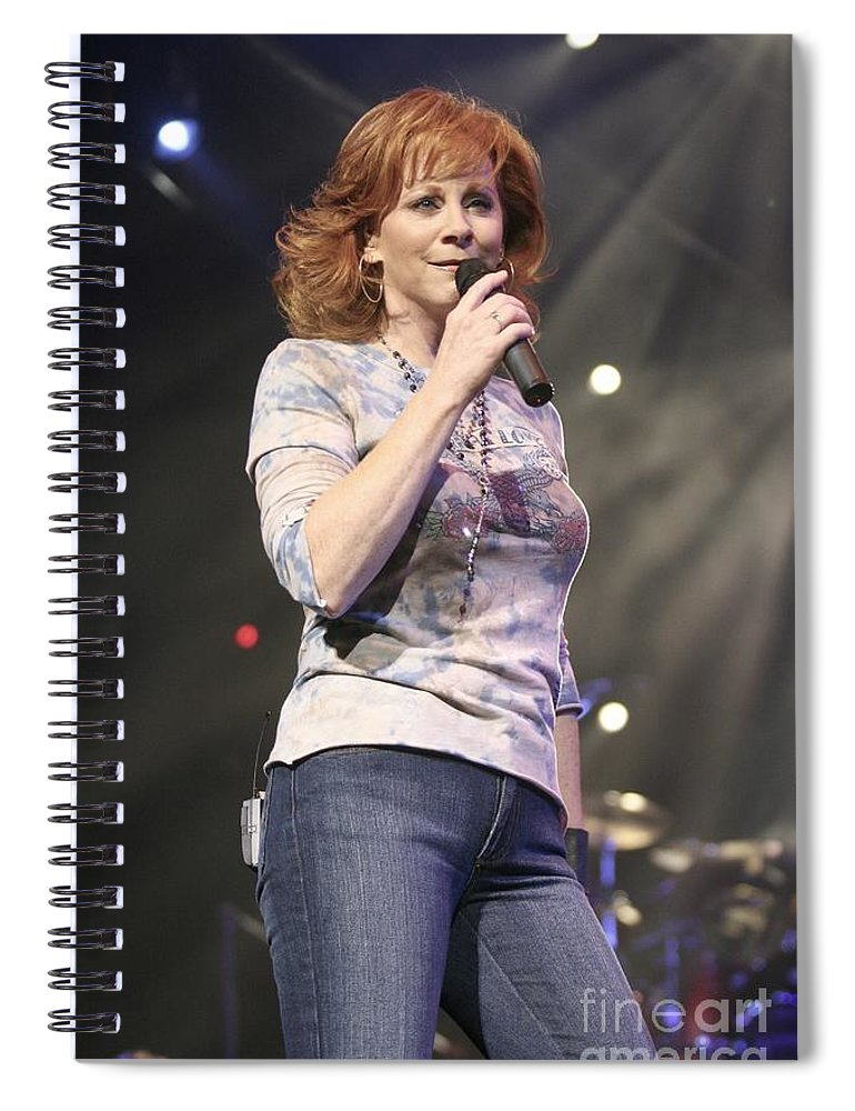 Dress Spiral Notebook featuring the photograph Reba Mcentire by Concert Photos