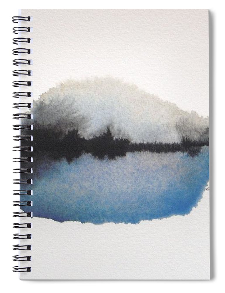 Abstract Spiral Notebook featuring the painting Reflection in the lake by Vesna Antic