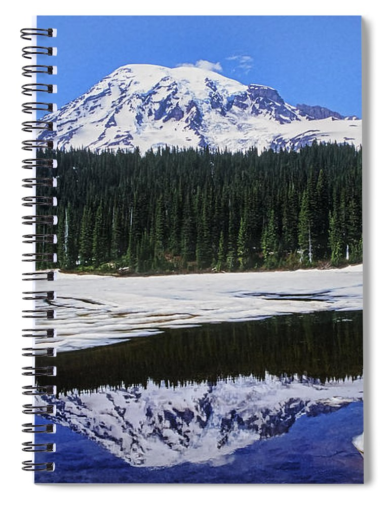 Mount Rainier Spiral Notebook featuring the photograph Reflection by Kelley King