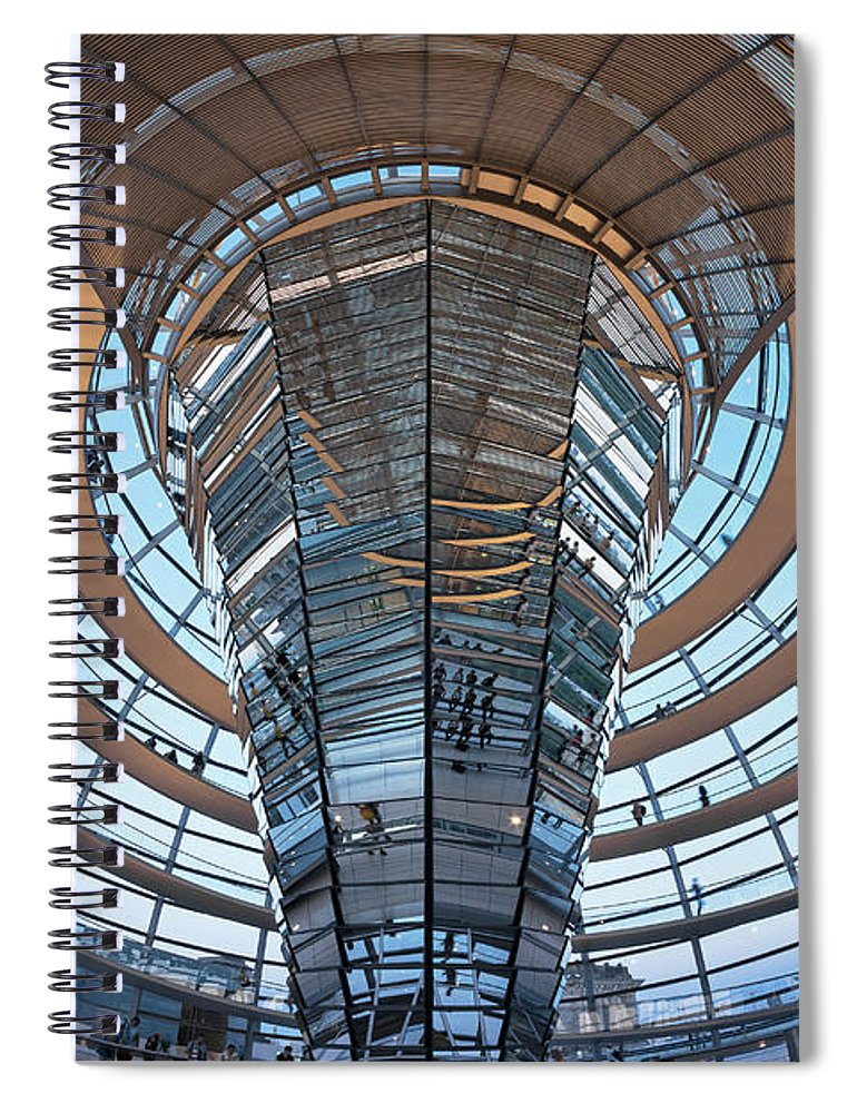 Norman Foster Spiral Notebook featuring the photograph Reichstag, Dome At Dusk by Siegfried Layda