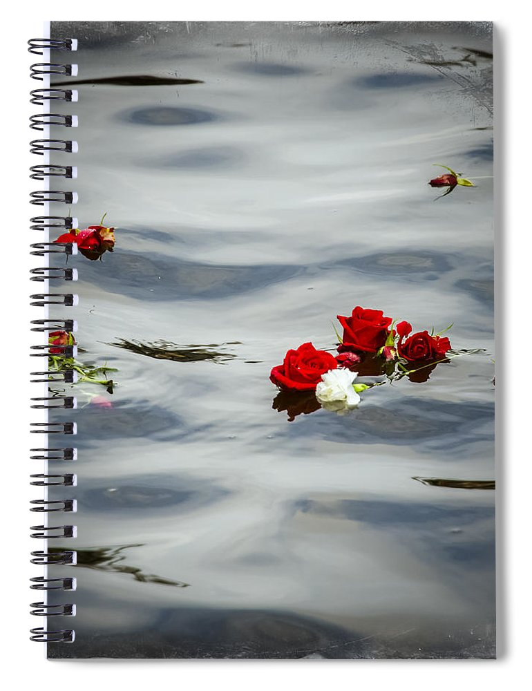 Memorial Spiral Notebook featuring the photograph Remember by Carolyn Marshall