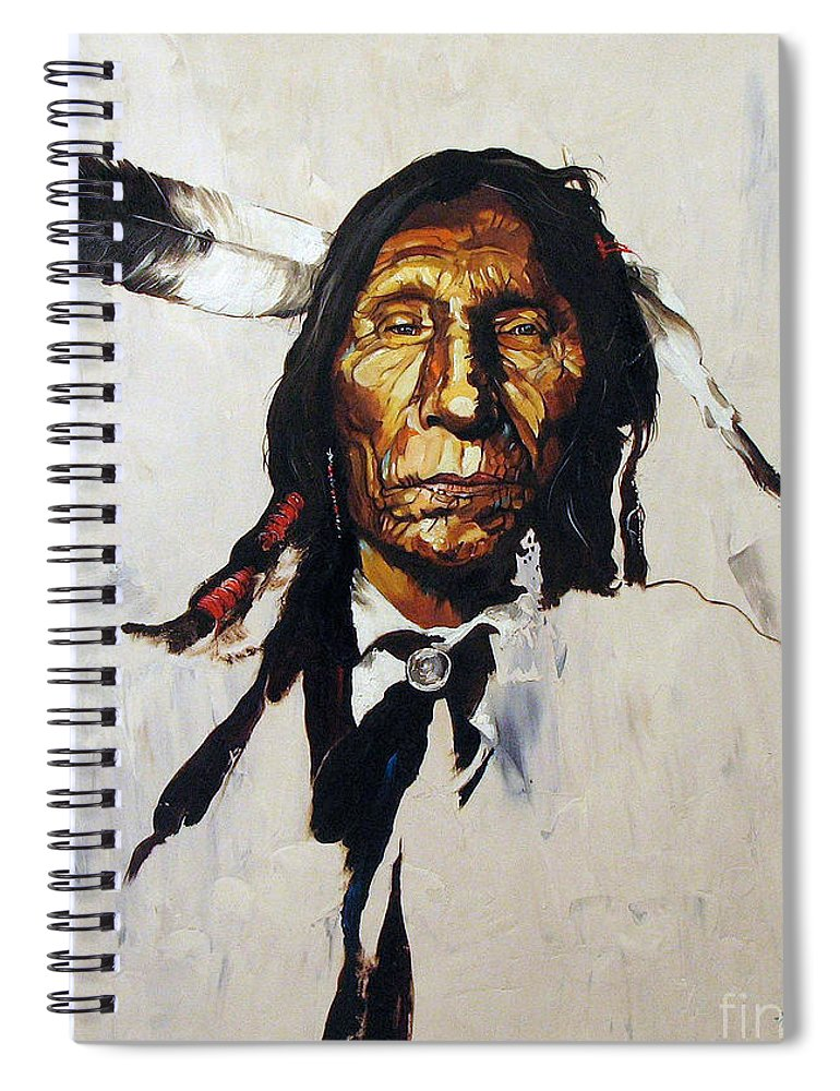 Southwest Art Spiral Notebook featuring the painting Remember by J W Baker