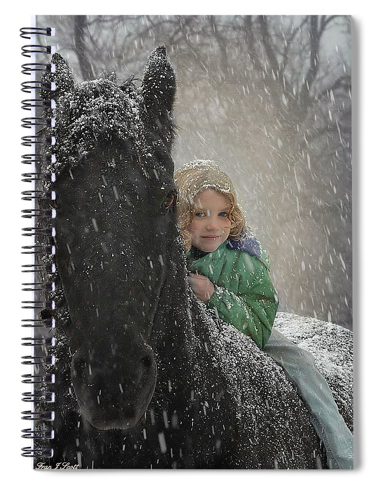 Friesian Spiral Notebook featuring the photograph Remme And Rory by Fran J Scott
