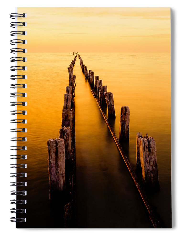 Remnants Spiral Notebook featuring the photograph Remnants by Chad Dutson