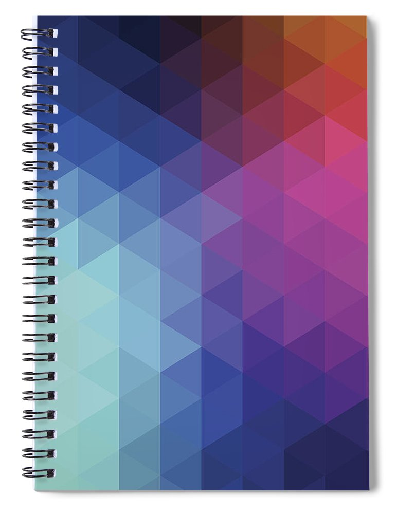 Triangle Shape Spiral Notebook featuring the digital art Retro Hexagon Abstract Background by Mustafahacalaki