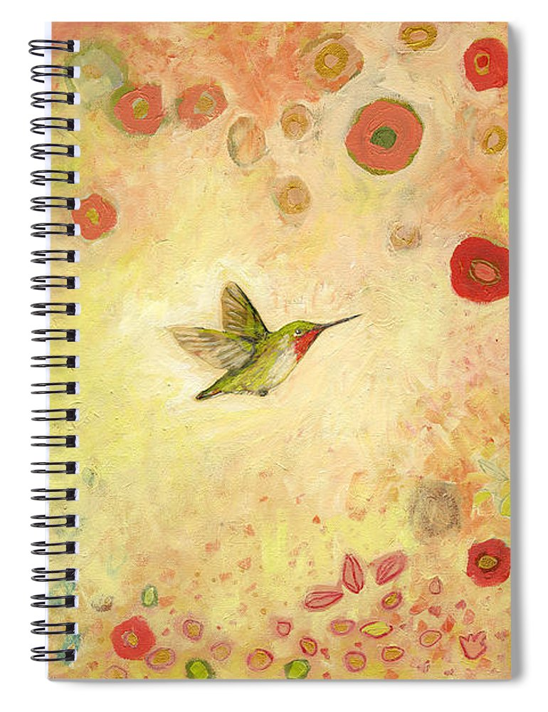 Bird Spiral Notebook featuring the painting Returning To Fairyland by Jennifer Lommers