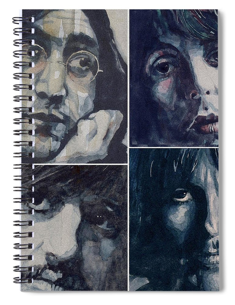 The Beatles Spiral Notebook featuring the painting Reunion by Paul Lovering