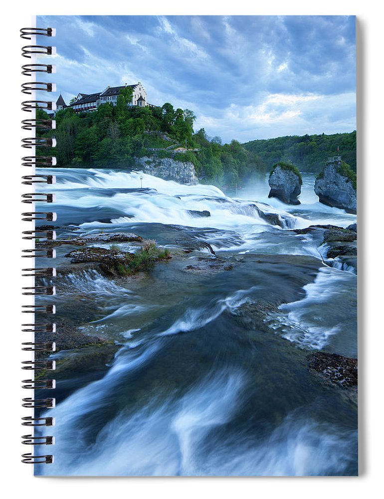 Scenics Spiral Notebook featuring the photograph Rhine Falls - Europes Largest Waterfall by Visionandimagination.com