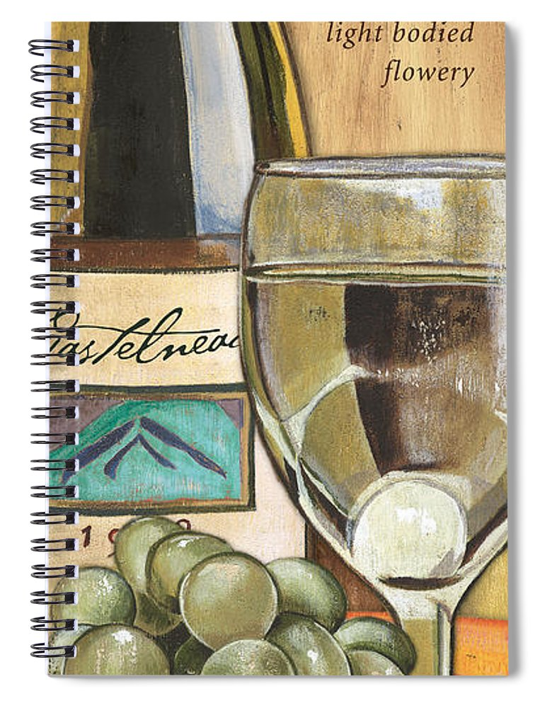Riesling Spiral Notebook featuring the painting Riesling by Debbie DeWitt