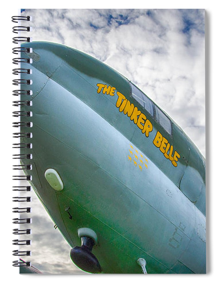 Aviation Spiral Notebook featuring the photograph Right Under Your Nose 3774c by Guy Whiteley