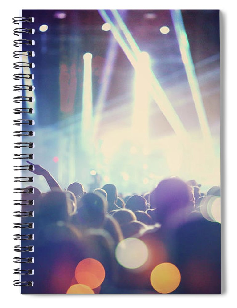 Event Spiral Notebook featuring the photograph Rock Concert by Gilaxia