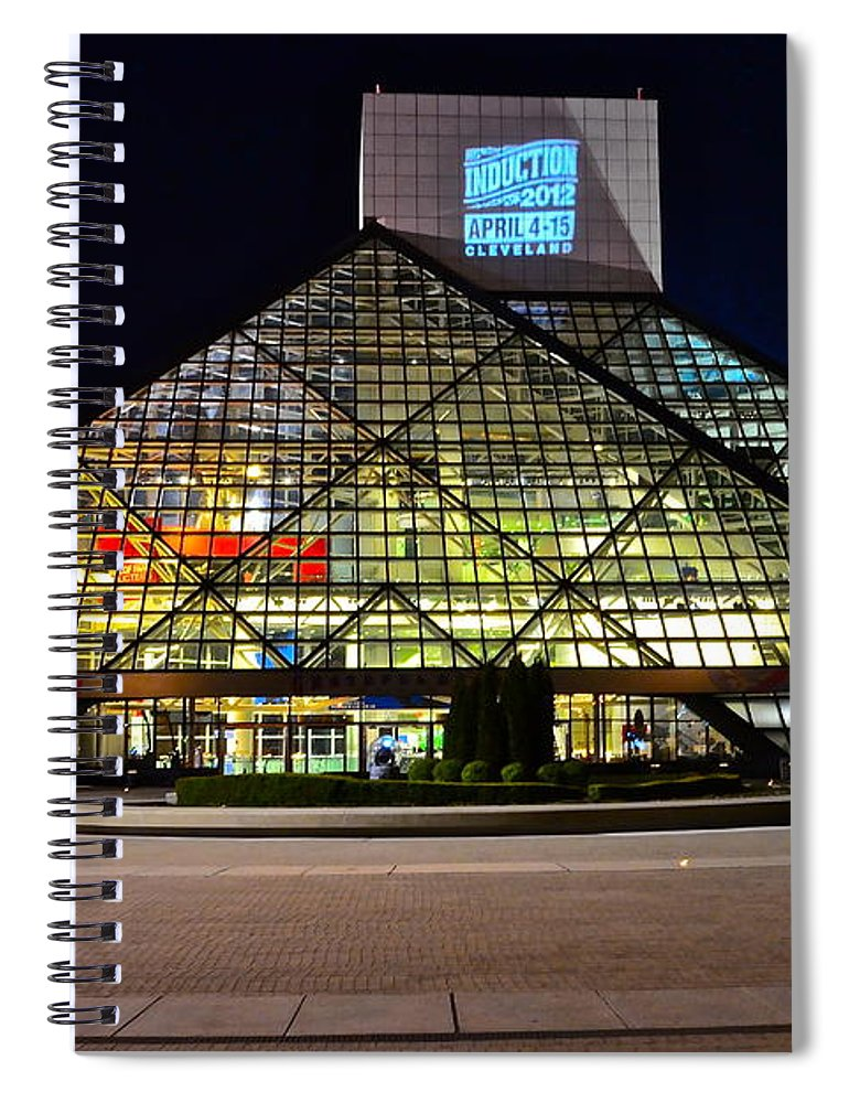 Rock And Roll Spiral Notebook featuring the photograph Rock n Roll hall of Fame Induction by Frozen in Time Fine Art Photography