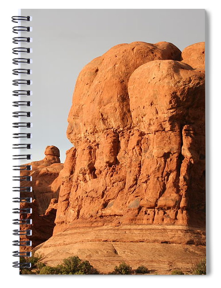 Rocks Spiral Notebook featuring the photograph Rockformation Arches Park by Christiane Schulze Art And Photography
