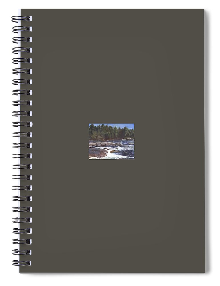Rocks Spiral Notebook featuring the painting Rocks by Sheila Mashaw