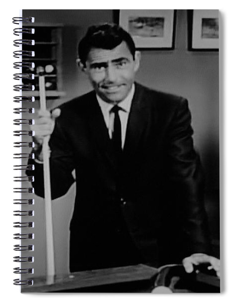 The Twilight Zone Spiral Notebook featuring the photograph Rod Serling by Rob Hans