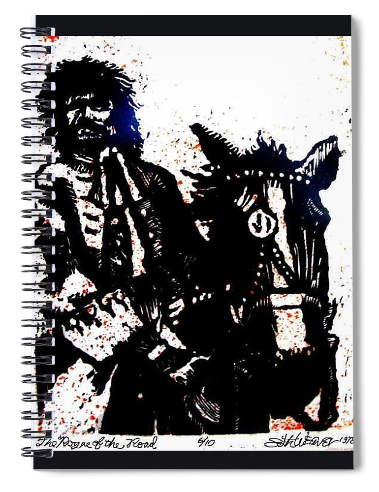 English Highwayman Spiral Notebook featuring the mixed media Rogue of the Road by Seth Weaver