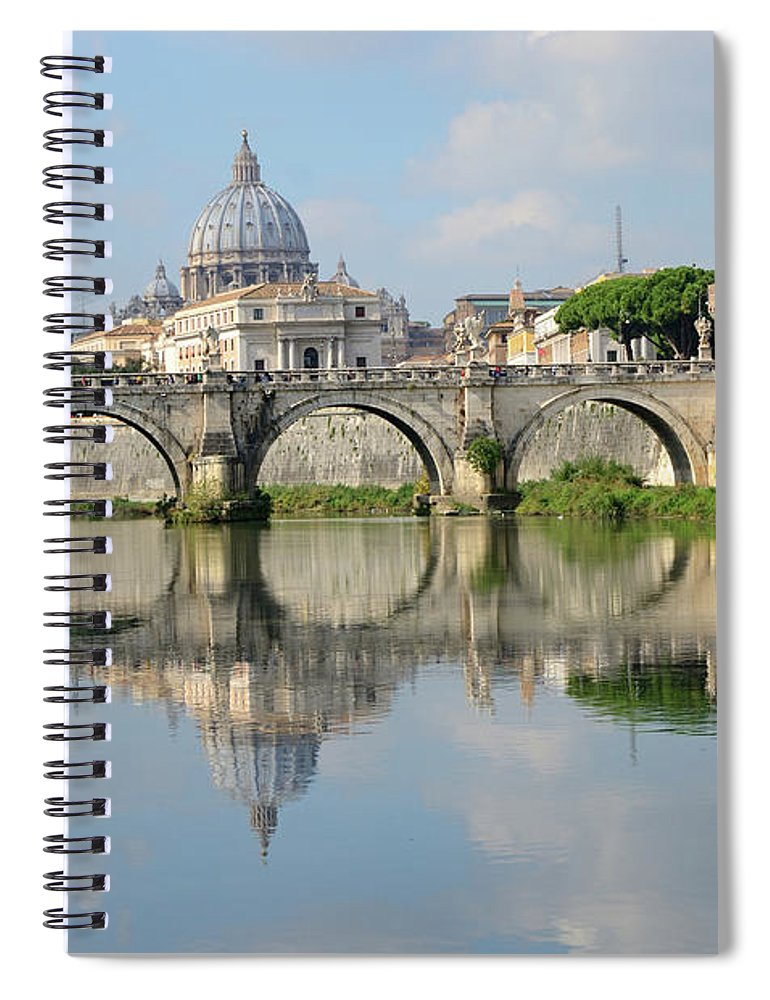 Arch Spiral Notebook featuring the photograph Rome by Madzia71