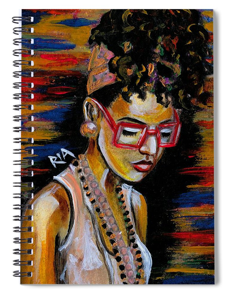 Beautiful Spiral Notebook featuring the photograph Romy by Artist RiA
