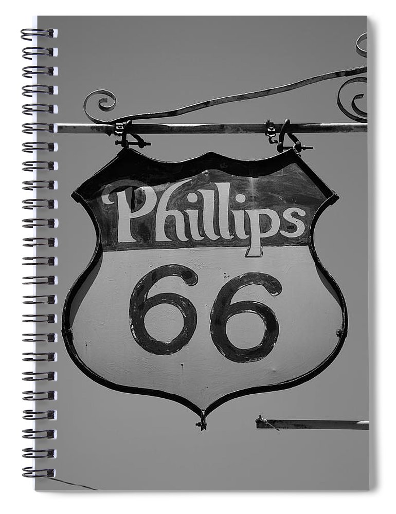 66 Spiral Notebook featuring the photograph Route 66 - Phillips 66 Petroleum by Frank Romeo