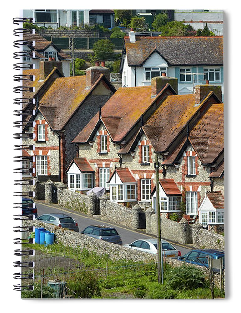 Row House Spiral Notebook featuring the photograph Row Of Houses by Allan Baxter