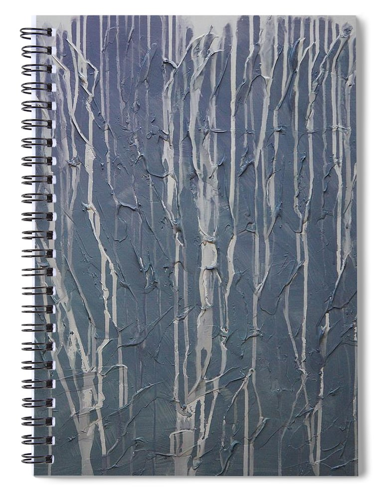 Abstract Spiral Notebook featuring the painting Ruins by Sergey Bezhinets