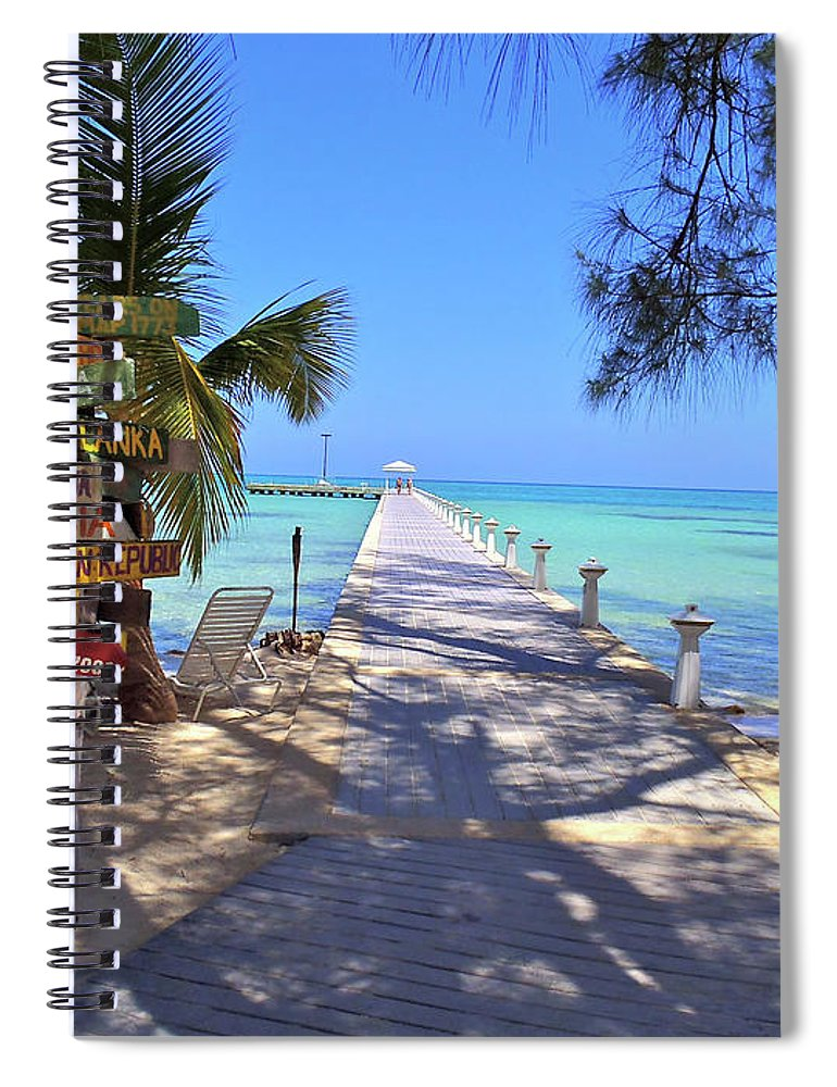 Cayman Spiral Notebook featuring the photograph Rum Point by Carey Chen