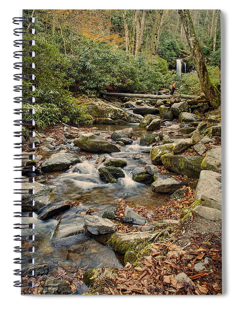 Grotto Falls Spiral Notebook featuring the photograph Run Off by Heather Applegate