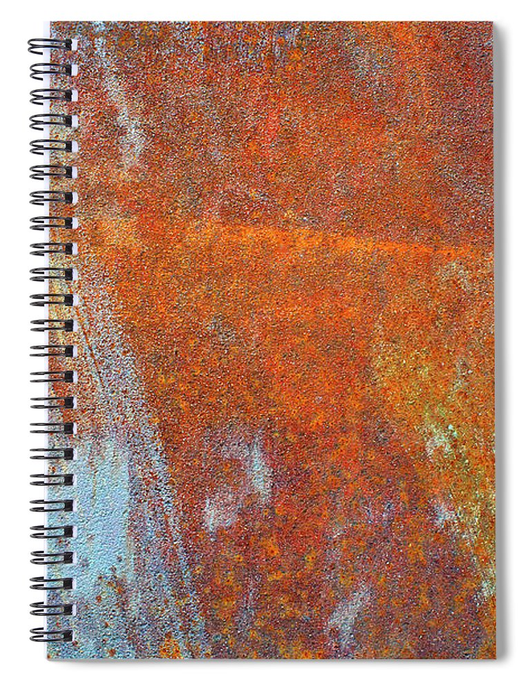 Aging Process Spiral Notebook featuring the photograph Rust On A Metal Surface by Rob Atkins