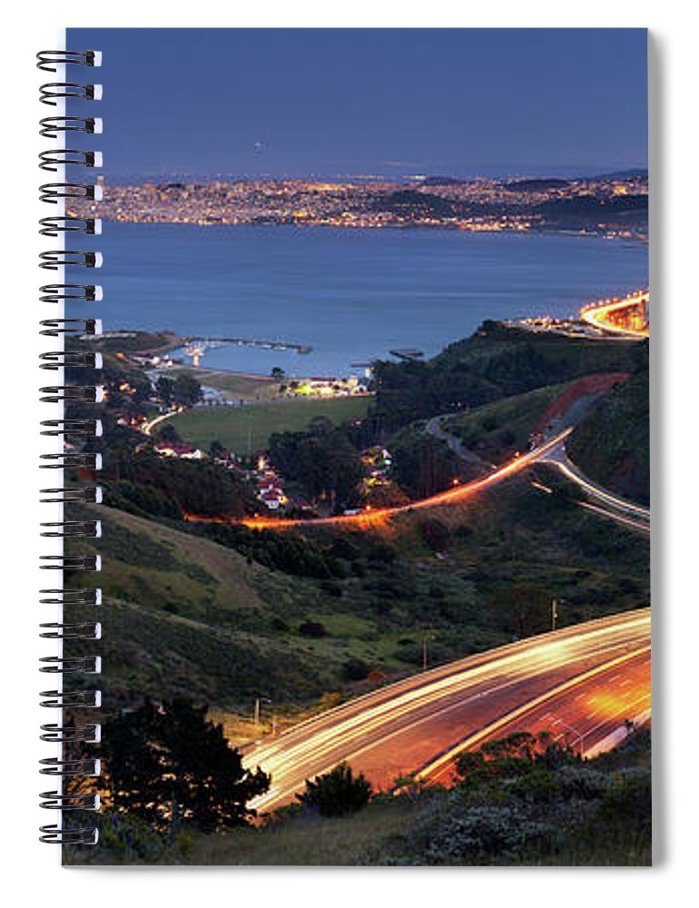 Scenics Spiral Notebook featuring the photograph S Marks The Spot by Vicki Mar Photography