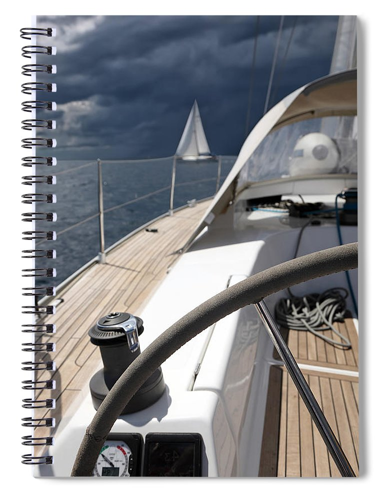 Adriatic Sea Spiral Notebook featuring the photograph Sailboats In Mediterranean Sea by Vuk8691