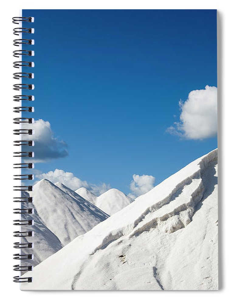 Working Spiral Notebook featuring the photograph Salines De Llevant Salt Works by Holger Leue