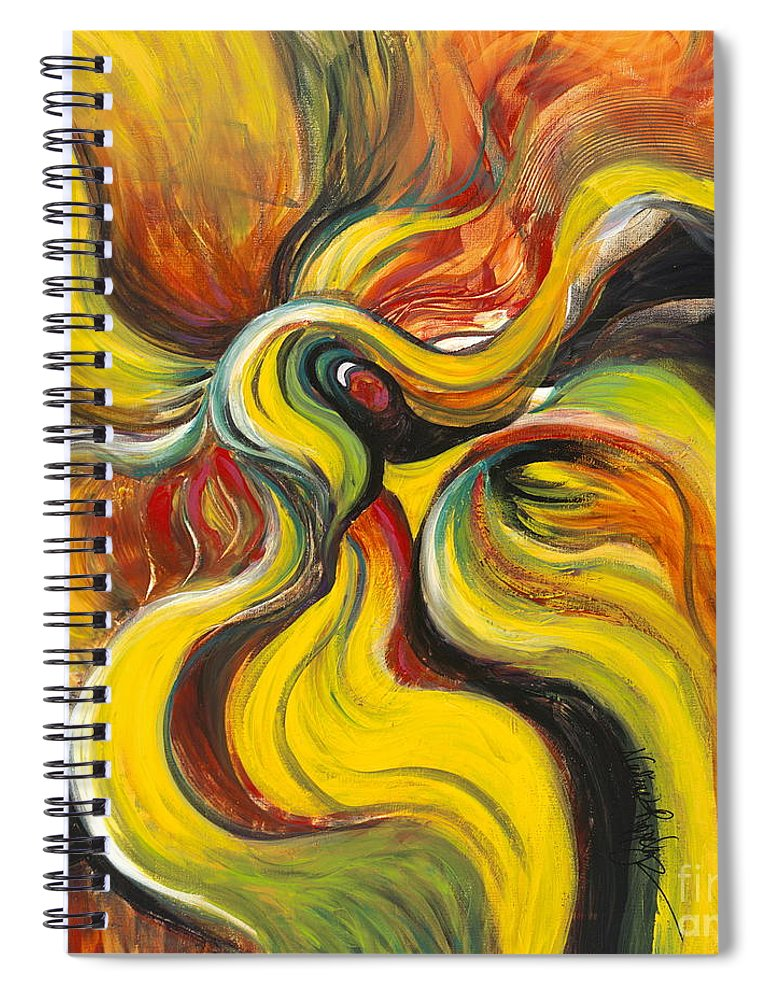 Latin Spiral Notebook featuring the painting Salsa by Nadine Rippelmeyer